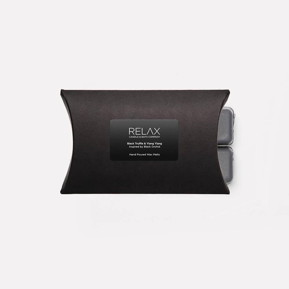 Black truffle and ylang ylang grey wax melts