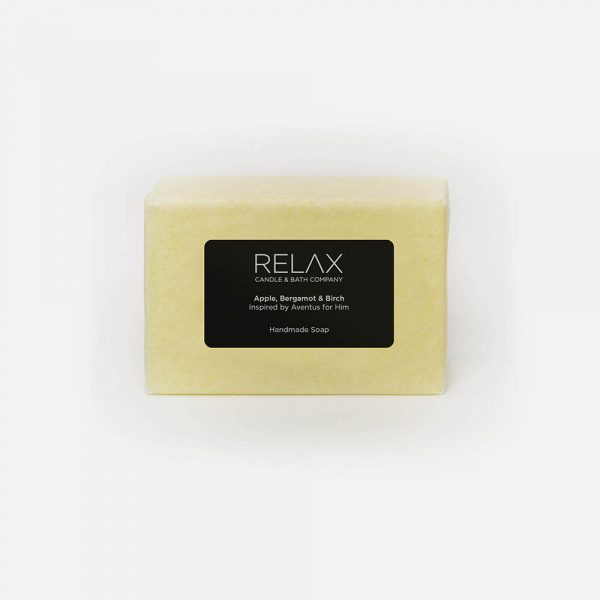 Relax candle and bath company orange coloured soap bar