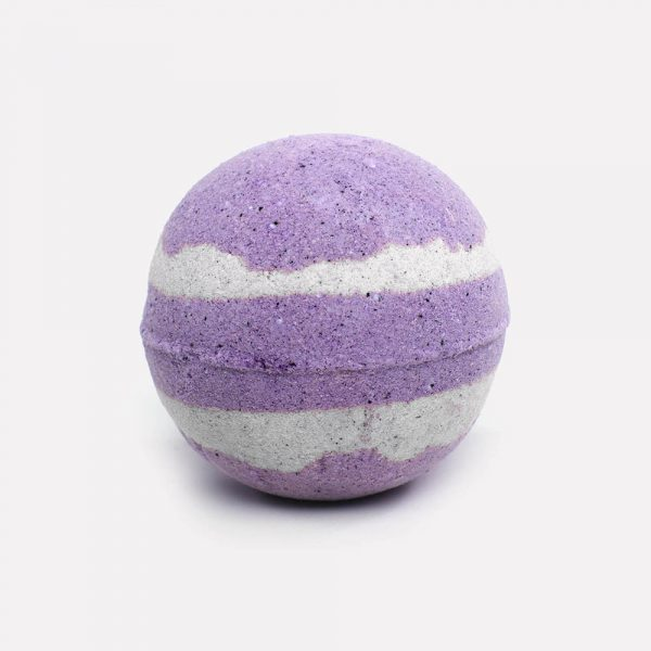 Purple with pale swirls on relax candle and bath bath bombs