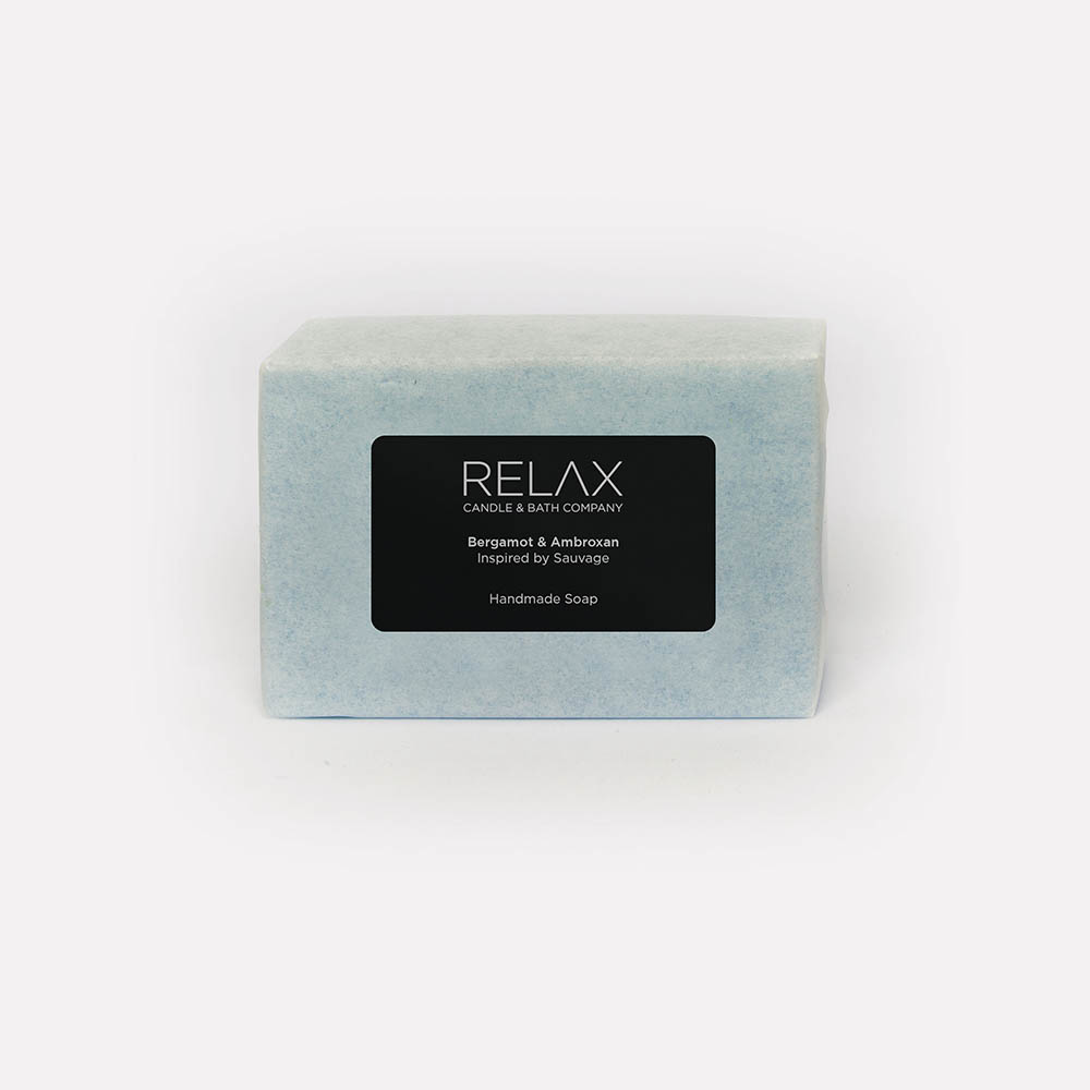 Bergamot and ambroxan blue soap bar