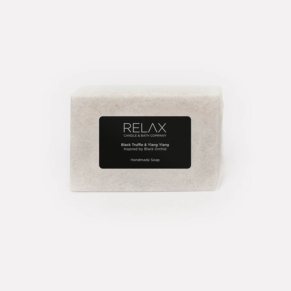 Relax candle and bath handmade soap bar