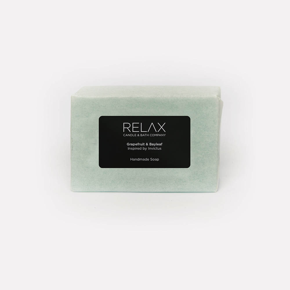 Relax candle and bath grapefruit and bayleaf handmade soap