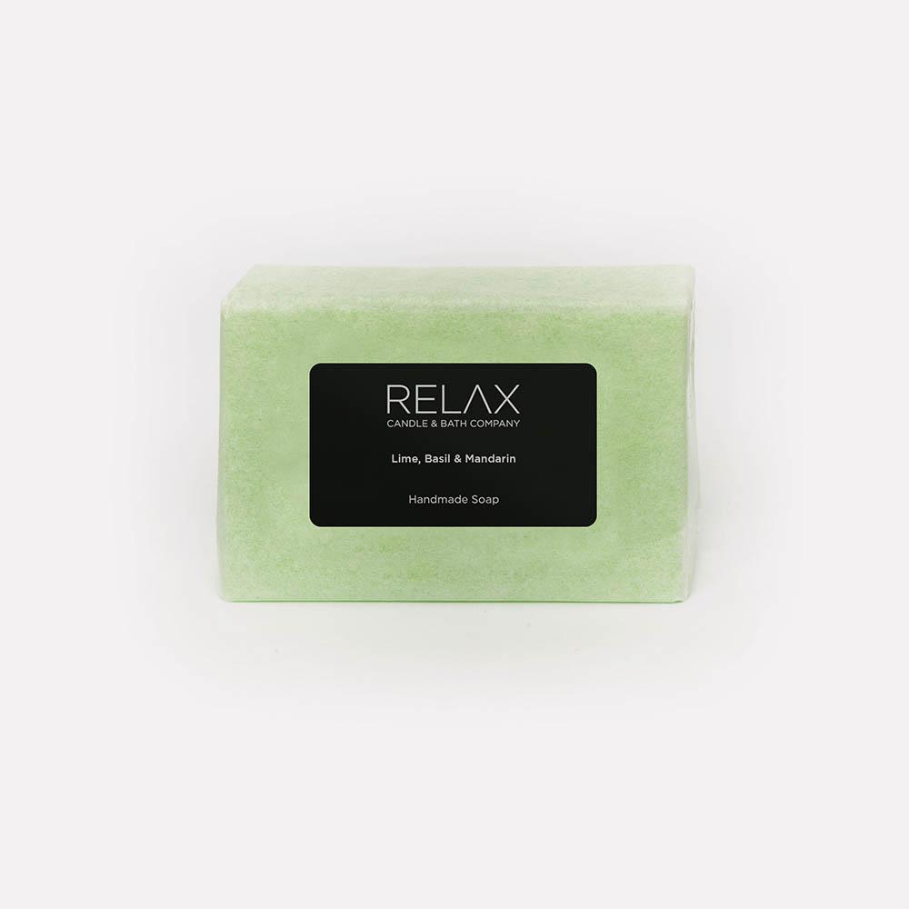 green lime basil and mandarin soap bar