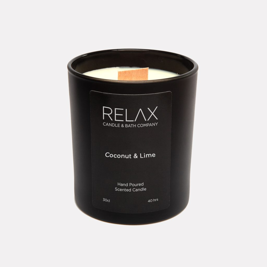 40 hour burning time coconut and lime relax candle and bath candle