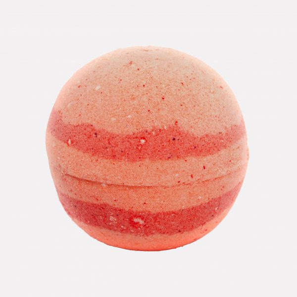Galaxy orange swirled handmade relaxing bath bomb