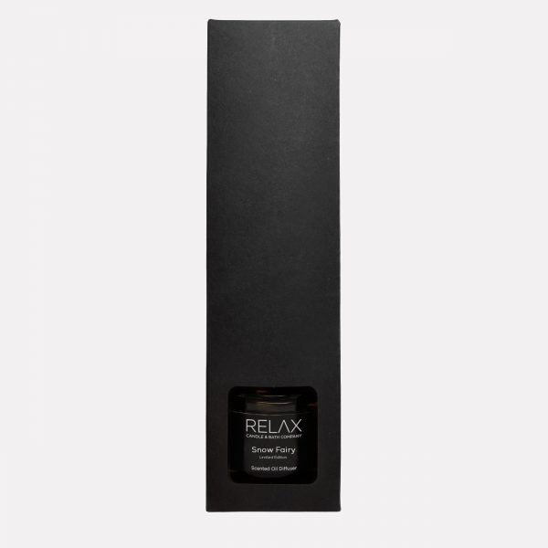 Black smart relaxing packaged scented reed diffuser