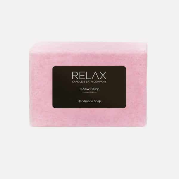 Handmade soap bar limited edition snow fairy scent