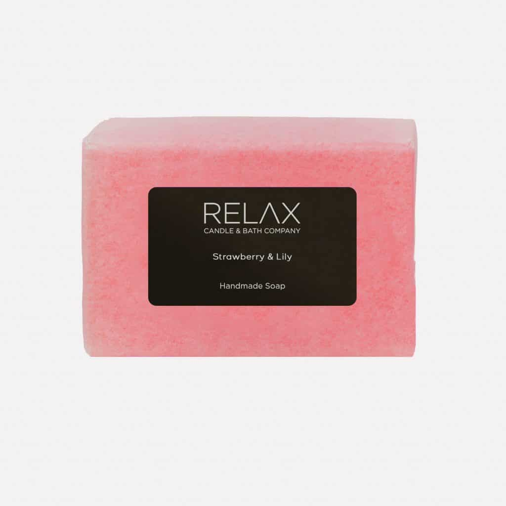 Strawberry and lily relaxing soap bar