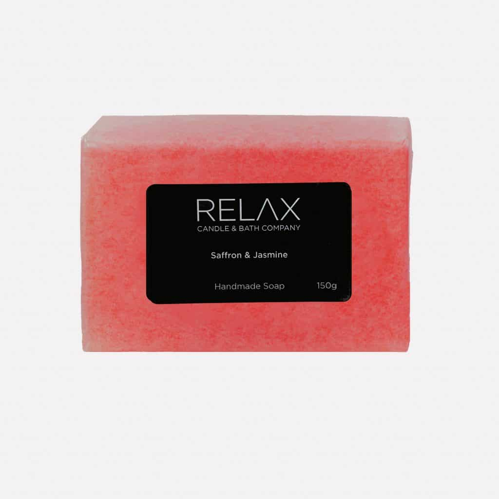 150g hand made soap on relax candle and bath