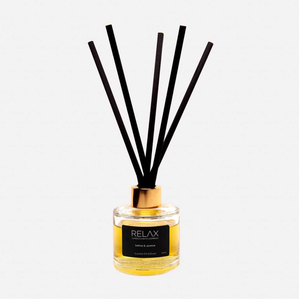 Black reed and rose gold scented diffuser for any room